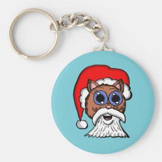 Santa Kitty Key Ring