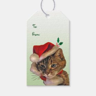 Santa Kitty Pack of Gift Tags