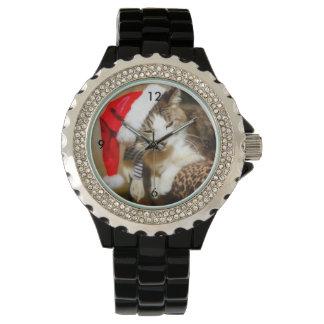 Santa Kitty Painterly Watch