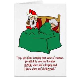 Santa Knows Card