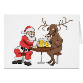 Santa Knows How To Party Greeting Card