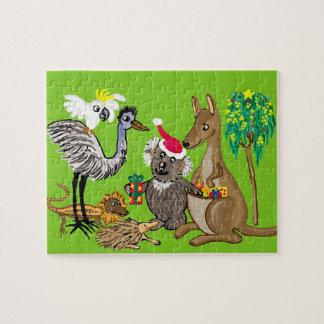 Santa koala jigsaw puzzles