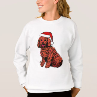 Santa Labradoodle Girls' ComfortBlend® Sweatshirt