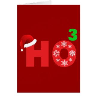 santa laughs at christmas greeting card
