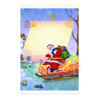 Santa letter stationery for Christmas for kids