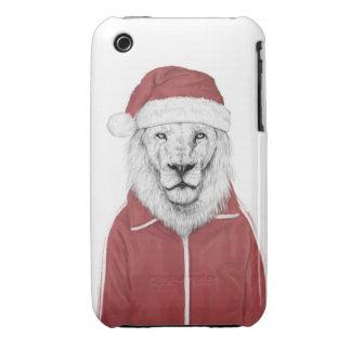 Santa lion iPhone 3 Case-Mate case