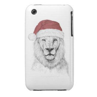 Santa lion II iPhone 3 Covers