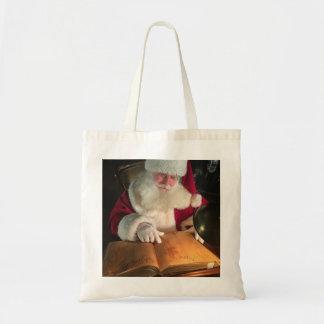 Santa Looking at Naughty and Nice Tote