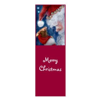 Santa Loves Animals Holiday bookmark Business Card