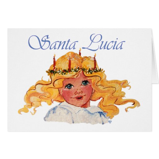 Santa Lucia Card with Sentiment