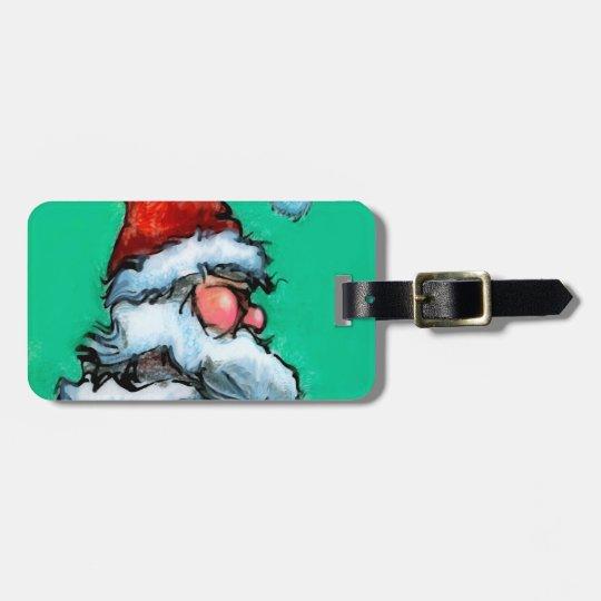 Santa Luggage Tag