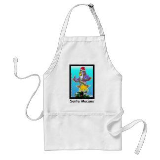 Santa Macaws Funny Christmas Gifts & Tees Standard Apron
