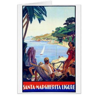Santa Margherita Ligure Vintage Poster Restored Card