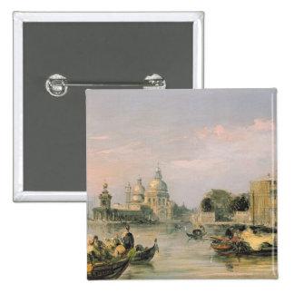 Santa Maria della Salute, Venice, 19th century 15 Cm Square Badge