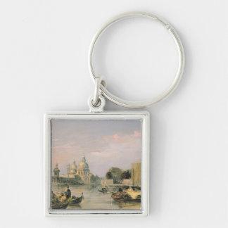 Santa Maria della Salute, Venice, 19th century Silver-Colored Square Key Ring