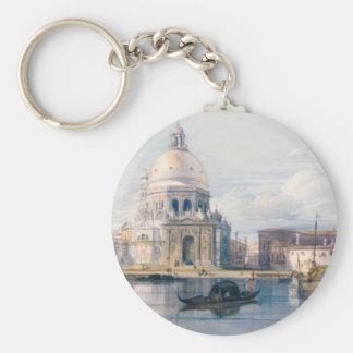 Santa Maria della Salute, Venice by William Leight Basic Round Button Key Ring