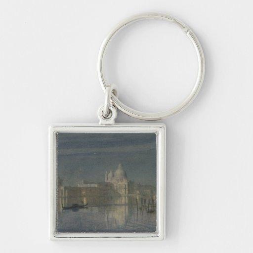 Santa Maria Della Salute, Venice, Moonlight, 1863 Key Chains