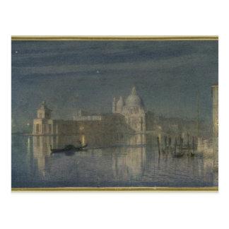 Santa Maria Della Salute, Venice, Moonlight, 1863 Postcard