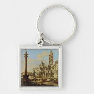Santa Maria Maggiore, Rome, 1739 Silver-Colored Square Key Ring