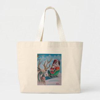 Santa Merry Christmas Jumbo Tote Bag