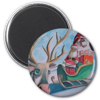 Santa Merry Christmas Magnets