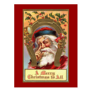 Santa Merry Christmas Post Card