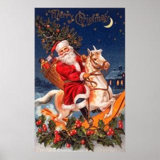Santa Merry Christmas Poster
