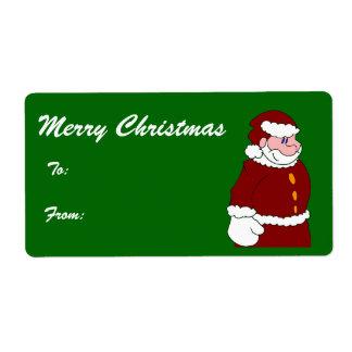 Santa - Merry Christmas Tags Shipping Label
