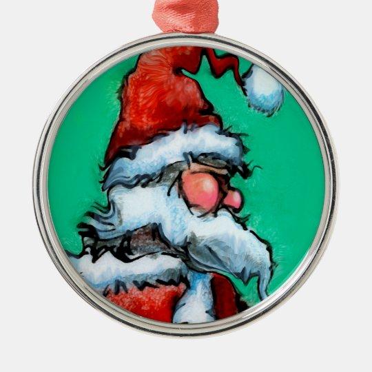 Santa Metal Ornament