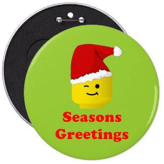 Santa Minifig Seasons Greetings Pins