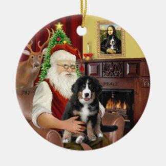 Santa + Mona Lisa - Bernese MD - 2 diff. designs Ceramic Ornament