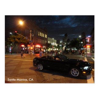 Santa Monica at Night Post Card