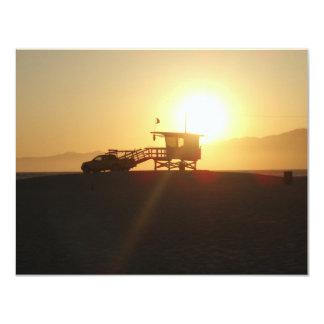 Santa Monica at Sunset 11 Cm X 14 Cm Invitation Card