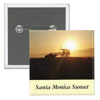 Santa Monica at Sunset 15 Cm Square Badge