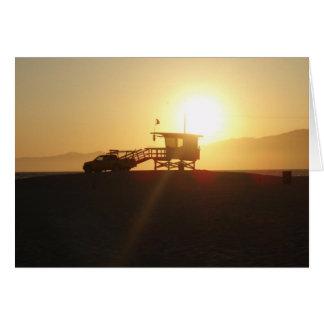 Santa Monica at Sunset Greeting Card