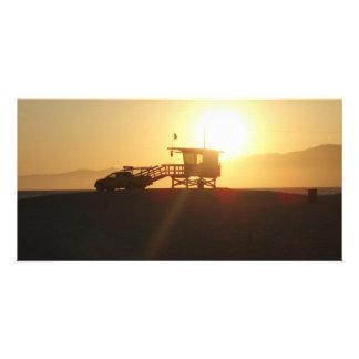 Santa Monica at Sunset Photo Card Template