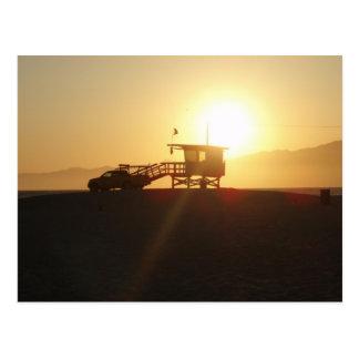 Santa Monica at Sunset Post Card
