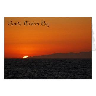 Santa Monica Bay Greeting Card