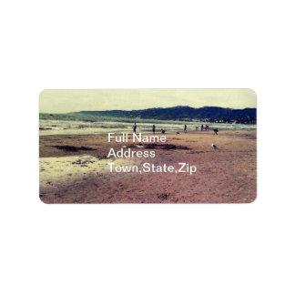 Santa Monica beach Address Label