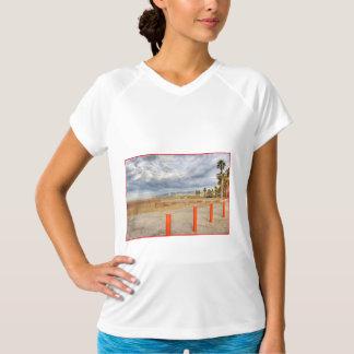 """Santa Monica Beach"" Ladies Performance Tee Shirts"