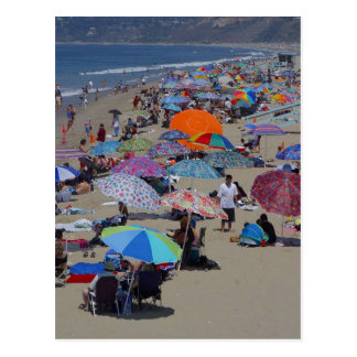 Santa Monica Beach People Postcard