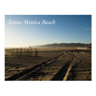 Santa Monica Beach Postcard