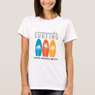 SANTA MONICA BEACH SURFING T-SHIRT