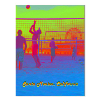 Santa Monica Beach Volleyball Pier Postcard