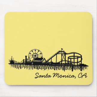 Santa Monica CA California Pier Beach Ferris Wheel Mouse Pad