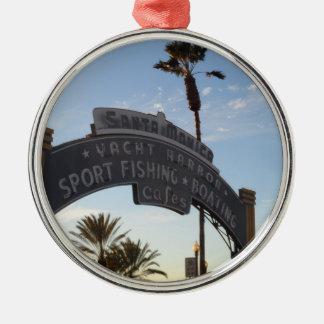 Santa Monica, CA Metal Ornament