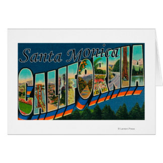 Santa Monica, California - Large Letter Scenes Greeting Cards