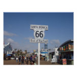 Santa Monica, California - RT 66 Poster