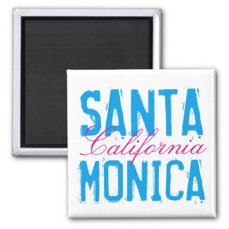 Santa Monica California Square Magnet