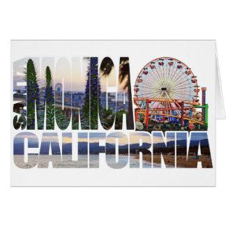 Santa Monica logo flowers pier beach Cards